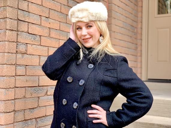 1950s pillbox fur hat