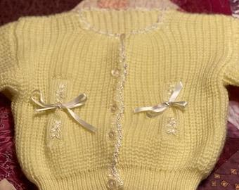 Handmade vtg baby sweater