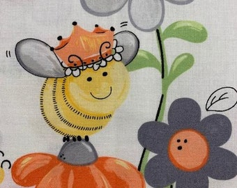 Sweet Bees fabric and panel from Suzy Bee.