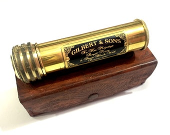 Handmade Brass Nautical Kaleidoscope with Leather Cover Gift for Everyone Children Toy