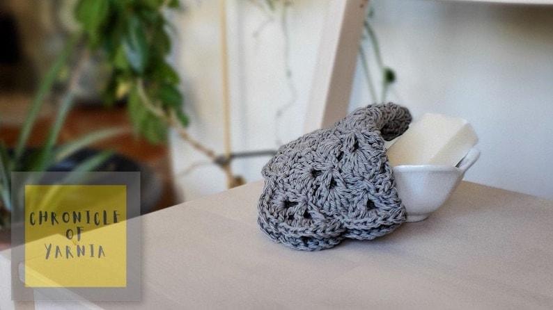 100% Cotton Washcloth Grey image 0