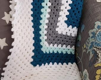 Granny Square Baby Blanket - MultiColor