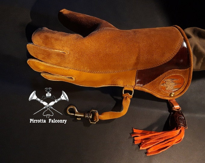 Featured listing image: Falconry glove - Falconry equipment - Medieval glove - Historical reenactment - Falconry gift - Handmade in Italy