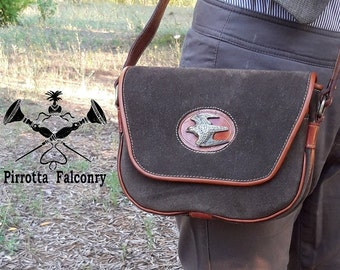 Leather shoulder bag - Woman bag - Falcon bag - Leather bag with shoulder strap - Genuine Italian Leather - Made in Italy