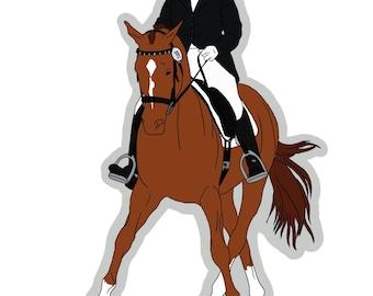 Chestnut Dressage Horse Sticker