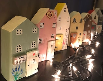 Little Wooden Houses, Handmade Personalised Home Decor. Perfect New Home Gift!