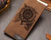 Sunflower Lovers Design Wallet for Men Women Flower Plant Sunflower Wallet Unconditional Love Symbol Personalized Wallet Gift Idea