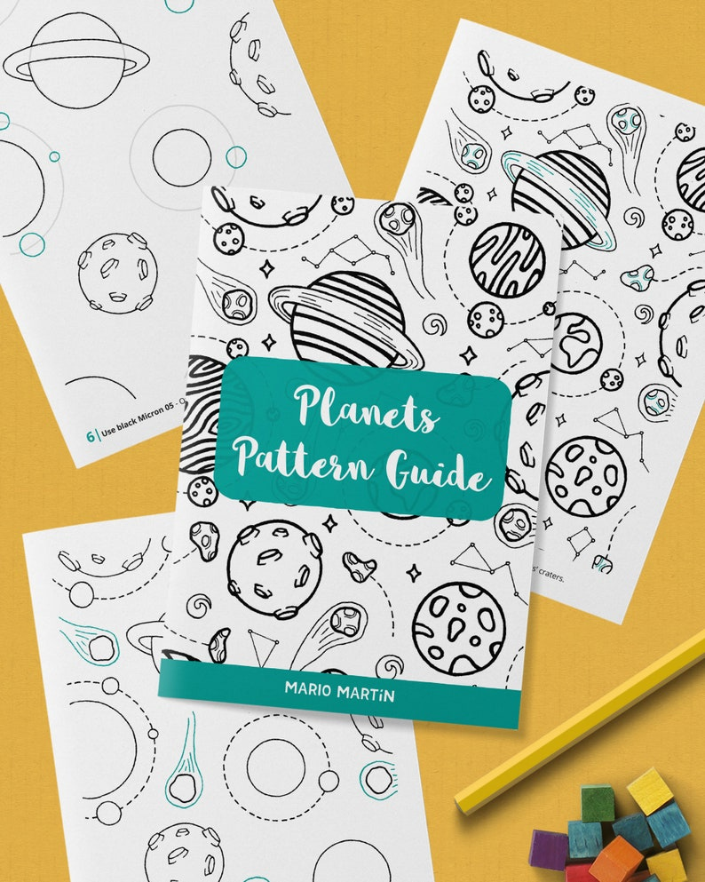PLANETS Pattern Drawing Guide  How To Draw Space Patterns  image 0