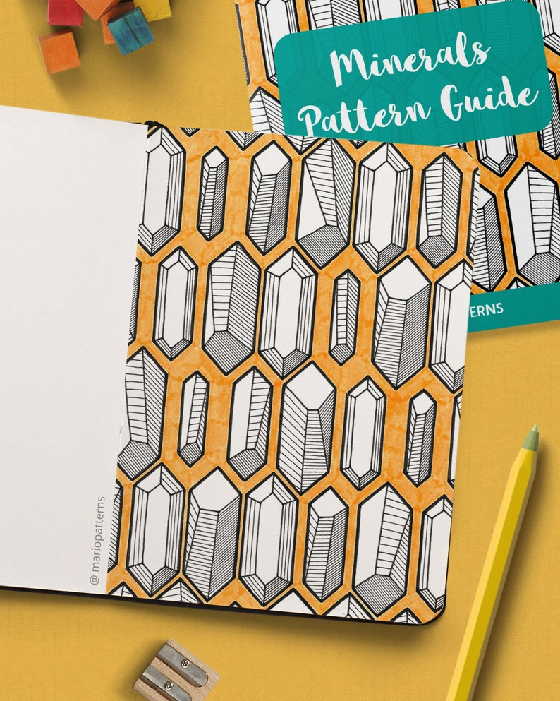 MINERALS Pattern Drawing Guide  How To Draw Geometric image 0