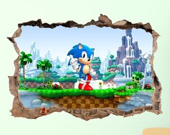 Sonic Wall Decor Etsy