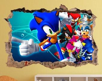 Sonic Wall Art Etsy