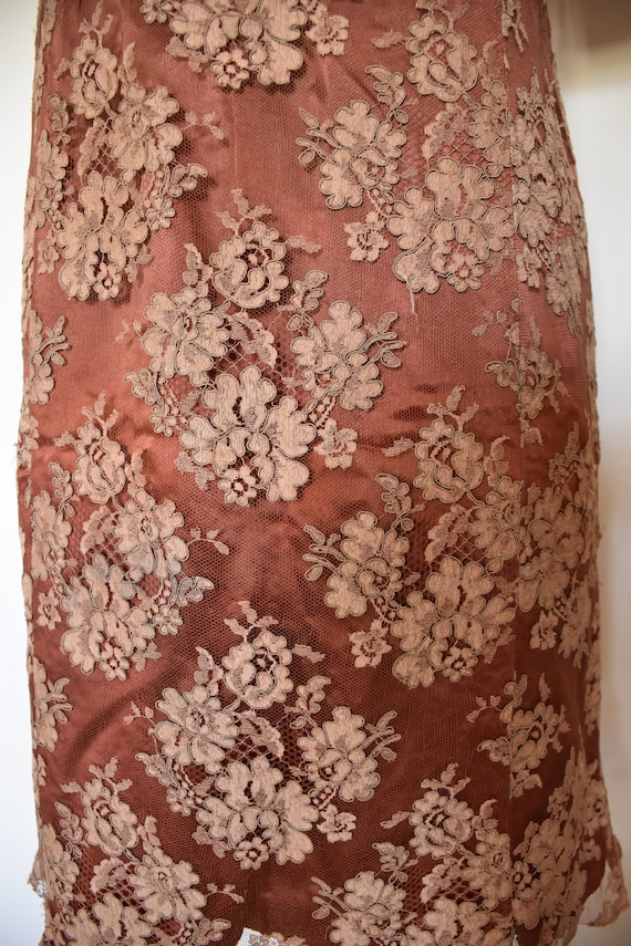 Vintage hand sewn lace dress - image 5