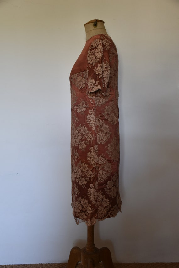 Vintage hand sewn lace dress - image 2