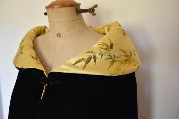 Velvet silk cape