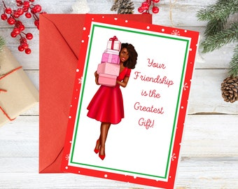 Christmas Card-friendship-African American