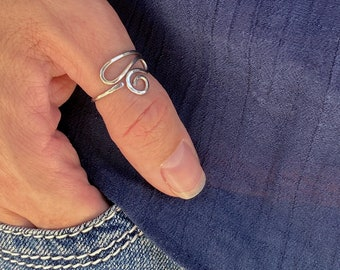 Unique Thumb Ring for Women, Stainless Steel Thumb Ring