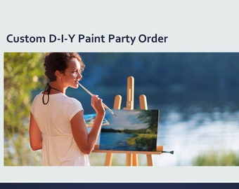 CUSTOM ORDER: Paint Party Art Box. Complete paint & sip kit. Unbox and let the FUN begin!