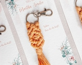 Name card and gift with macramé, in pastel colors, place cards, seat cards *Small 14 cm*