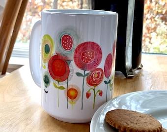 CoronaBloom Mug in Pink and Orange