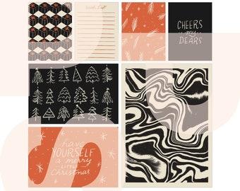 Happy Holidaze | printable card set