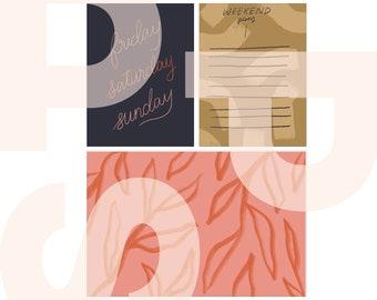 Weekend | printable card set