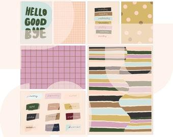 Weekdays | printable card set