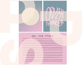 Overthinker | printable card set