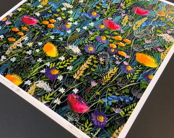 A Singing of Flowers, limited edition giclee print.