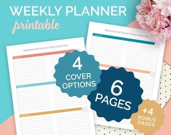 Weekly Planner, Life Planner, Printable Planner, To Do List, Weekly Organizer, Printable PDF, Digital Planner, Printable, US Letter & A4