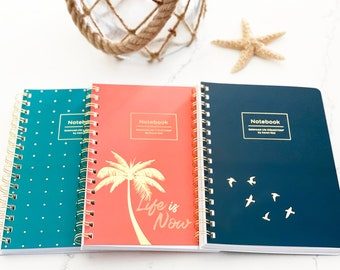Notebook 3 Pack, Soft touch, Wire Bound, Lined, Notebook Set, Journal Notebook, Journal