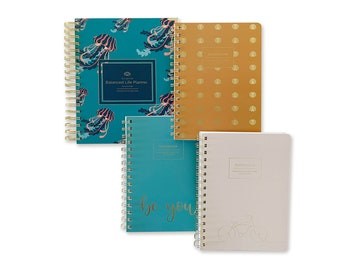 52 week Undated 7 x 9 Spiral Coiled Weekly Life Planner Agenda 3-pack Spiral bound Notebook (Be You Bundle)