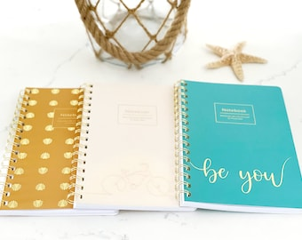 Notebook 3 Pack, Soft touch, Wire Bound, Lined, Notebook Set, Journal Notebook, Journal, Be You Collection