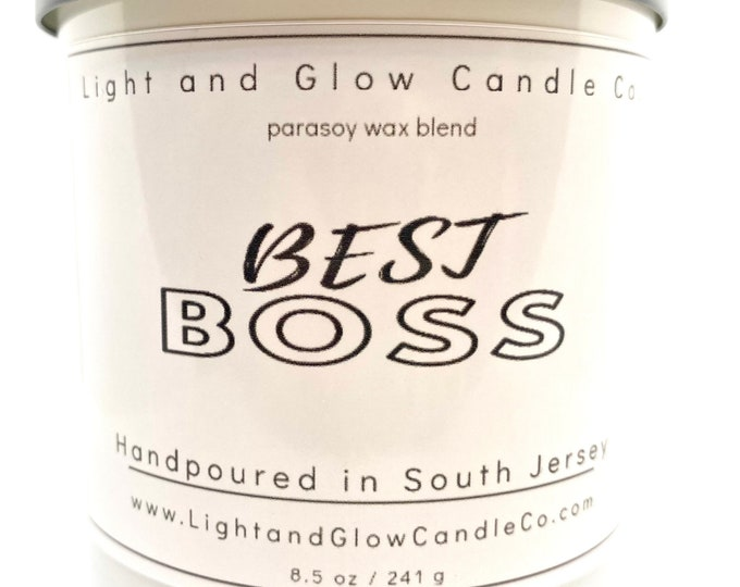 BEST BOSS Candle Best Scented Candles Handcrafted Candles Gift for Boss Personalize Scents Boss/'s Gift Boss Gift for Men /& Women