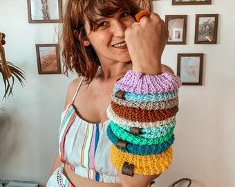 Handmade Hair scrunchies, Crochet scrunchies, Festive boho hair accessories for women, Wholsale scrunchies