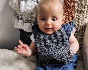 Handmade crochet baby bib   handmade crochet momy necklace