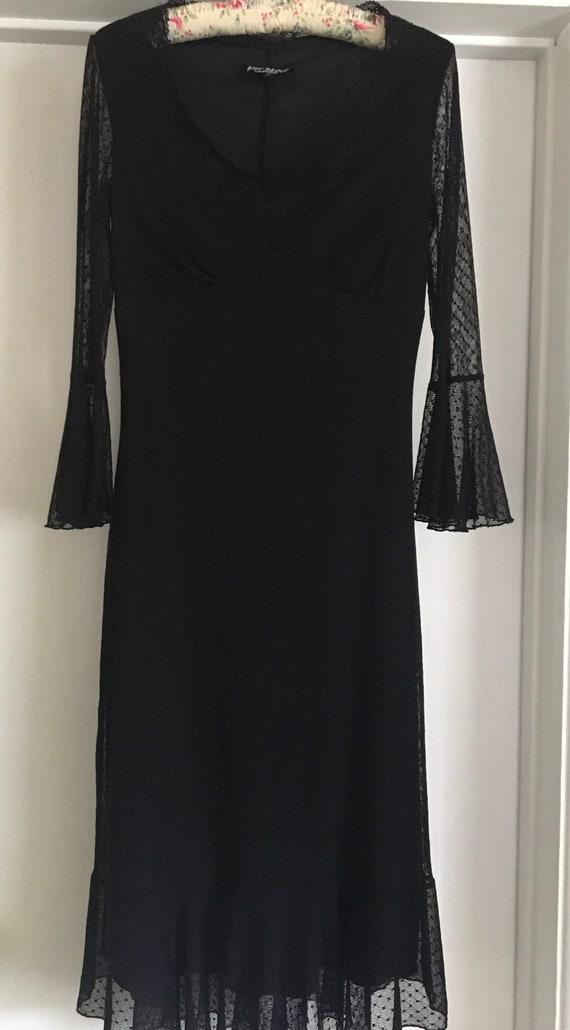 90's Vintage Betsey Johnson Black lace dress
