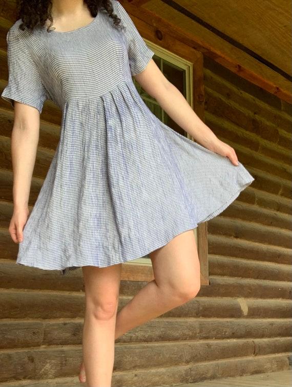 Blue Gingham Swing Dress - image 2