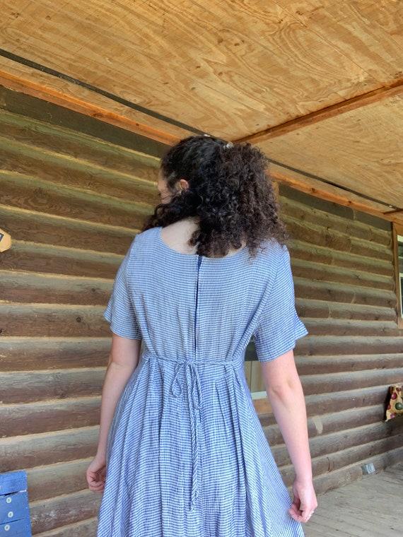 Blue Gingham Swing Dress - image 4