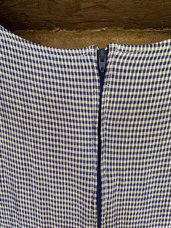 Blue Gingham Swing Dress - image 5