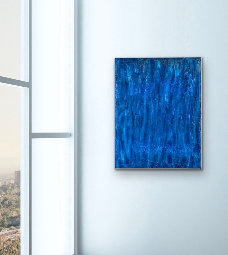 Blue Majestic original abstract painting