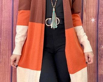 Rust Color Cardigan