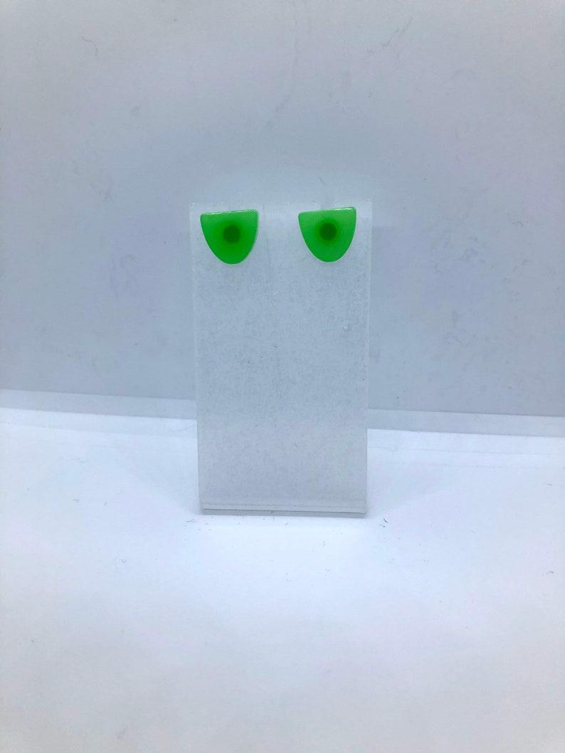 The Vanessa studs in Jade green