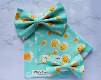 AND Matching Scrunchie for your human dog bandanas dog bows cat bandanas cat bows Over the collar Bandanas and bows for Dogs and Cats