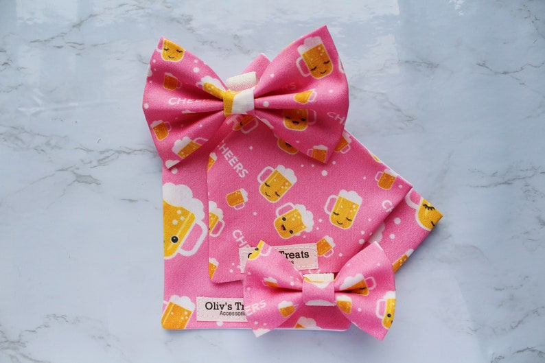 Over the collar Bandanas and bows for Dogs and Cats dog bandanas dog bows cat bandanas cat bows AND Matching Scrunchie for your human