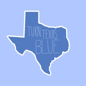 956875504 Oval CafePress Turn Texas Blue Stkr Sticker Sticker