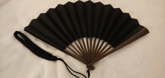 Antique Mourning Fan
