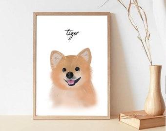 Custom Pet Portrait | Minimal Digital Art | DIGITAL FILE