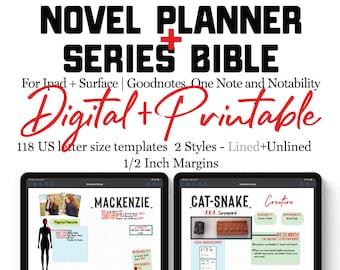 Book Series Planner   Writer Workbook   Series Planner   Book Writing   Author Workbook   Novel Planner   Novel Workbook   Author Gift
