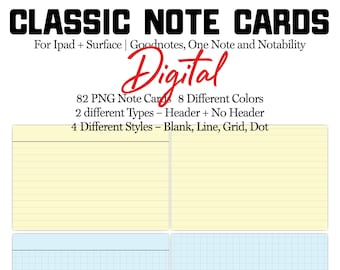 Digital Note Cards   Goodnotes Note Cards   Digital Index Cards
