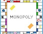 Monopoly - LARGE C2C Crochet Blanket Pattern Graphgan- Afghan-Corner to Corner- Vintage Toys- Board Games- Family Fun- Nostalgia